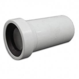 Випуск для унтазу прямий 110 мм L=400 мм (з прокладкою)