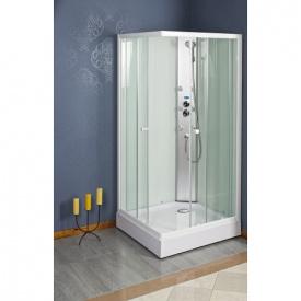 Гідромасажна душова кабіна ATLAS 90x90x200 см квадратна прозора біла