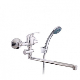 Смеситель для ванны Optima 12C вылил 300 мм с воронкой и шлангом O2CK08