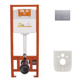 Набор инсталляция 4 в 1 Qtap Nest ST с линейной панелью смыва QT0133M425M08382SAT