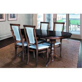 Кухонний комплект Говерла стіл розсувний і 4 стільця темний горіх