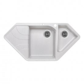 Кухонная мойка с дополнительной чашей Lidz 1000x500/225 GRA-09 (LIDZGRA091000500225)