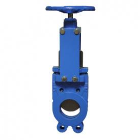 Засувка шиберна c двостороннім уплотненим чавунна Ду 50 шибер-нж сталь 316 NBR PN10