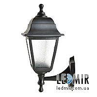Фасадный садово-парковый светильник Кантри НС04 матовое стекло крашеный Черный