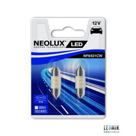 Світлодіодна Автолампа NEOLUX C10W 12V 0,5W SV8,5-8 комплект (2шт)