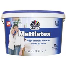 Краска латексная DUFA Mattlatex D 100 белая 1,4 кг