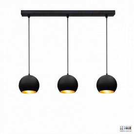 Потолочный подвесной светильник NL 1512-3 BK+GD черный