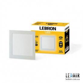 Светодиодный светильник Lebron Квадрат 12W-4100K
