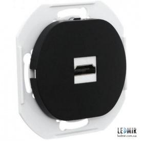 Розетка HDMI Aling-Conel E6163E1 черная с заземлением