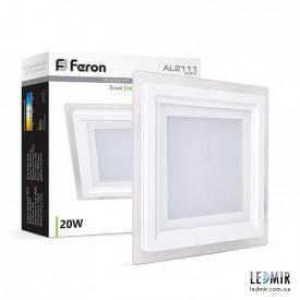 Светодиодная панель Feron AL2111 20W-5000K