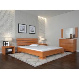 Двуспальная кровать из дерева 160х200 щит Бука Премьер Ольха