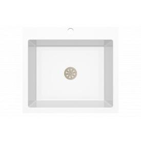 Гранітна мийка Idis Comfort plus №7 520x580 White