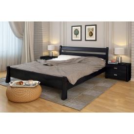 Двуспальная кровать из дерева Сосны 160х200 Венеция Венге темный