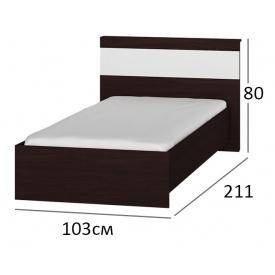 Ліжко односпальне 90х200 Сфера 900 Венге + білий