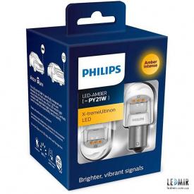 Светодиодная автолампа Philips PY21W 12/24V 1,8W BAU15S комплект (2шт)