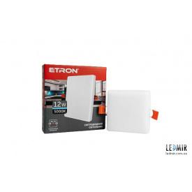 Светодиодный светильник ETRON Квадрат 1-EDP-655 12W-5000K