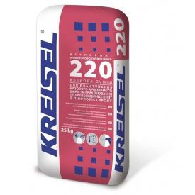 Клей для пінопласту посилений KREISEL 220 Styrlep 25 кг