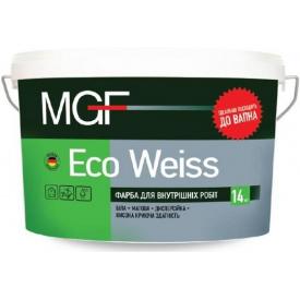 Краска для внутренних работ MGF Eco Weiss M 1 белая 7 кг