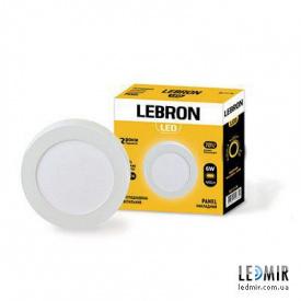 Светодиодный светильник Lebron Круг накладной 6W-4100K