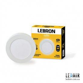 Светодиодный светильник Lebron Круг накладной 12W-4100K