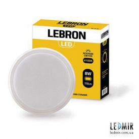 Светодиодный светильник Lebron Круг 8W-4100K Белый