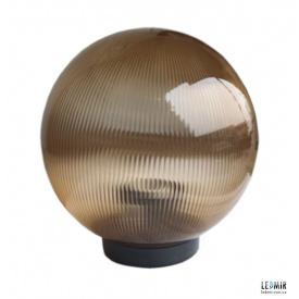 Накладной садово-парковый светильник шар Electrum Опал 150 золотой призматический
