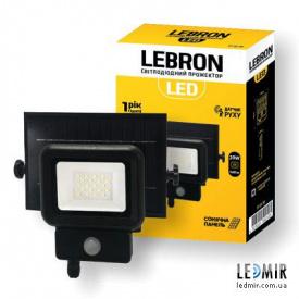 Светодиодный прожектор Lebron 30W-6500K на солнечной батарее