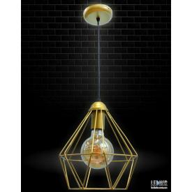 Потолочный подвесной светильник NL 0537 G GRID золотой