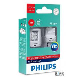 Светодиодная автолампа Philips W21W LED 12V W3x16D комплект (2шт)