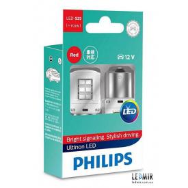 Светодиодная автолампа Philips PY 21 W 12 V 2,7 W BAU 15 S комплект (2 шт)