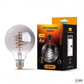 Світлодіодна лампа Videx Filament G95 4W-E27-2100K