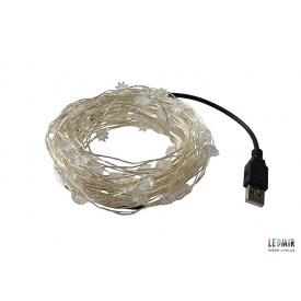 Светодиодная гирлянда Foton USB Garland белая теплая 5 В IP68