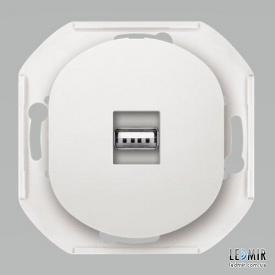 Розетка USB Aling-Conel EON E6162,0 белая с заземлением