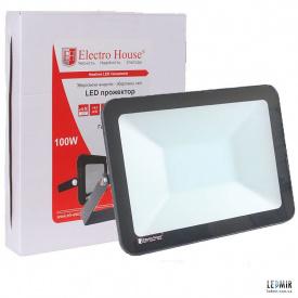 Светодиодный прожектор ElectroHouse 100W-6500K
