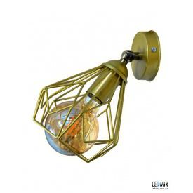 Накладной светильник NL 538-1G GRID золотой