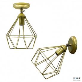 Накладной светильник NL 0537-1G GRID золотой