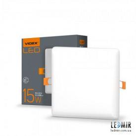 Светодиодный безрамочный светильник Videx Квадрат 15W-4100K