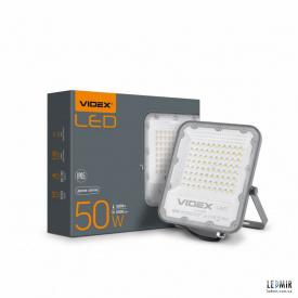 Светодиодный прожектор Videx 50W-5000K Gray