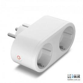 Розетка двомісна Smart Videx біла