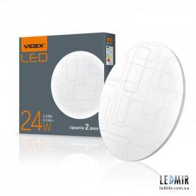 Светодиодный светильник Videx Круг накладной прямоугольники 24W-4100K