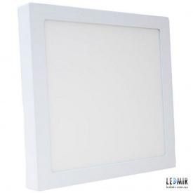 Светодиодный светильник Powerlux Квадрат накладной Downlight 18W-3000K