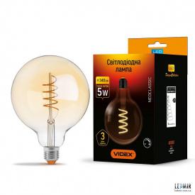 Светодиодная лампа Videx Filament G125 dimm 5W-E27-2200K