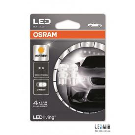 Светодиодная автолампа Osram WY 5 W LED 12 V 0,5 W 6000 K W 2,1x9,5 D комплект 2 шт