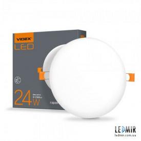 Світлодіодний безрамковий світильник Videx Коло 24W-4100K