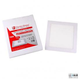 Світлодіодна панель ElectroHouse 18W-4100К квадратна