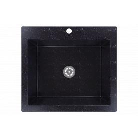 Гранітна мийка Idis Comfort plus №7 520x580 Obsidian