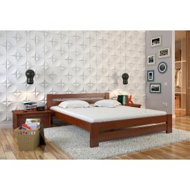 Двуспальная кровать из дерева 160х200 щит Бука Симфония Яблоня локарно
