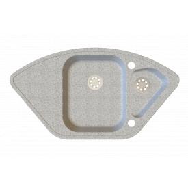 Гранітна мийка Idis Corner №5 920x490 White