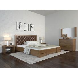 Двуспальная кровать 160х200 из дерева Сосны щит Регина люкс Орех