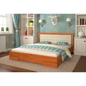 Двуспальная кровать из дерева 160х200 щит Сосны Регина Ольха